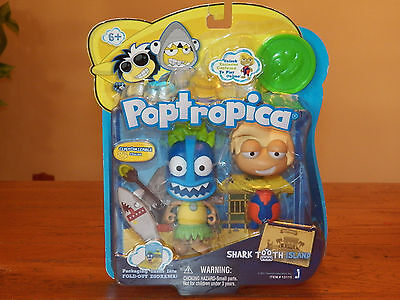 Poptropica 3  Figure Doll Toy Set Shark Tooth Island Surfer  13115   Brand New