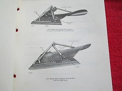 1978 JD JOHN DEERE HIGH SPEED, SEMI-DEEP,SLAT, PLOW BOTTOMS PARTS CATALOG MANUAL