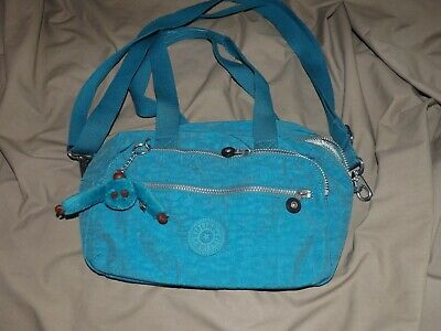 kipling ladies handbag teal with shoulder strap