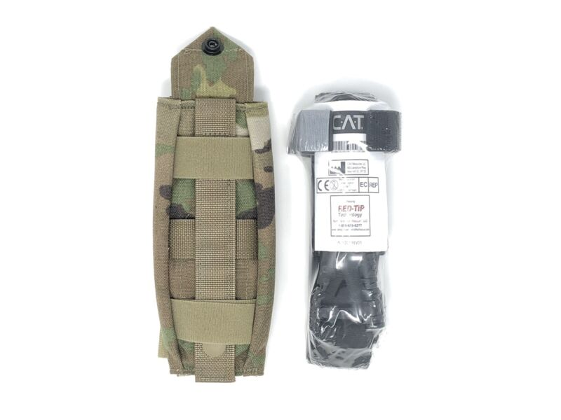 North American Rescue GEN 7 Red Tip CAT Combat Tourniquet w/ Multicam Pouch