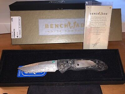 Benchmade Foray Gold Class Knife NIB W/Proof Of Authenticity Collectors Knife