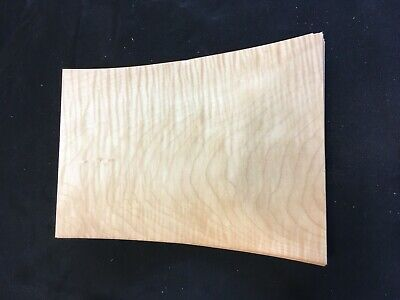 Curly Maple Flat Sawn Raw Wood Veneer Sheets 8.5 X 13 Inches 142nd Lot 58