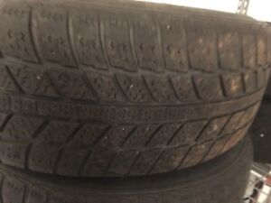 4 EVERGREEN  SNOW TIRES 195*65*R15 ON STEEL RIMS