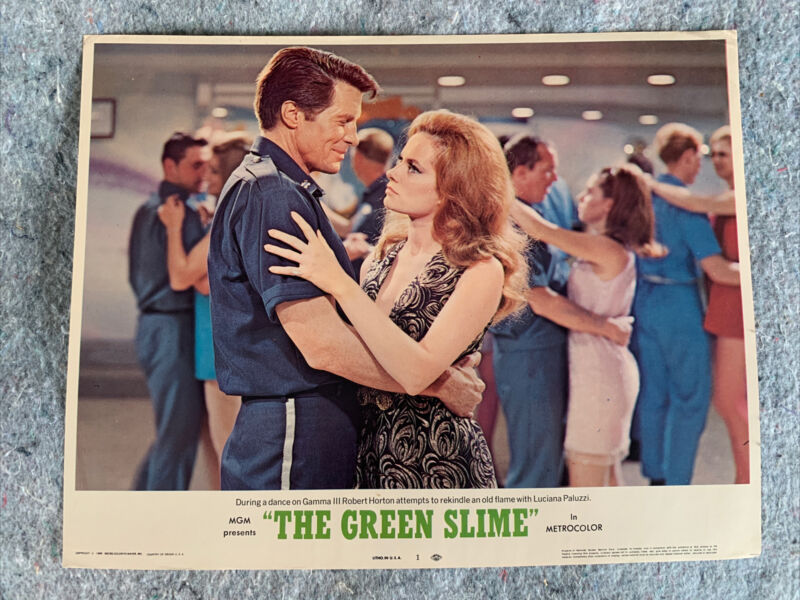 Luciana Paluzzi-- The Green Slime--Original 1969-- Lot of 2 Lobby Cards-- 1 & 6