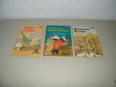 Lot 3 Childrens Step Into Reading Books 17925  Halloween Dinosaur Dragonfly (Halloween Reading Books)
