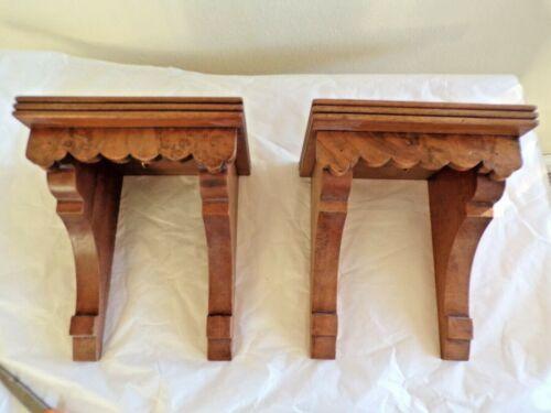 Pair Antique Wooden Shelves