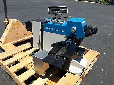 Reichert Polylite 88 Wafer Inspection Microscope Motorized Platform Sale 649