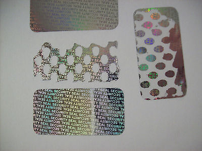 100 Ss-15 Security Seal Hologram Tamper Proof Security Warranty Labels Stickers