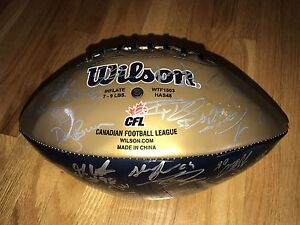 2011 season w/ Doug Brown Blue Bombers  Team signed Football