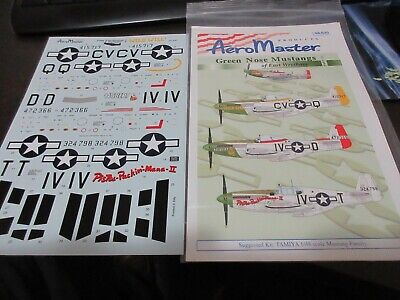 AERO MASTER DECALS 1/48th SCALE SHEET P-51B/C MUSTANGS PT 1 D-DAY 1944 48-646
