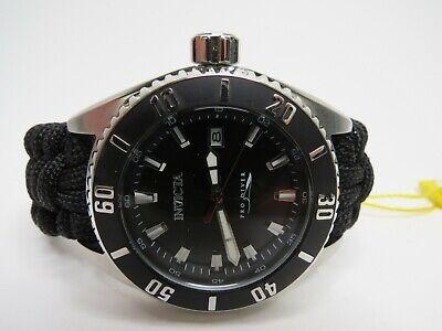 Invicta Men's Automatic Watch Pro Diver Paracord Nylon Strap 46mm Black 26024