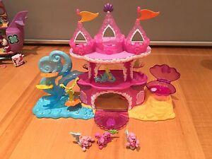 My Little Mermaid Castle and 3 Mermaid Ponies Kingston Kingborough Area Preview