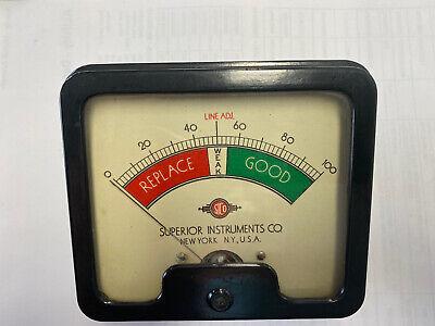 Vintage Superior Instruments Meter For Model 450a Untested