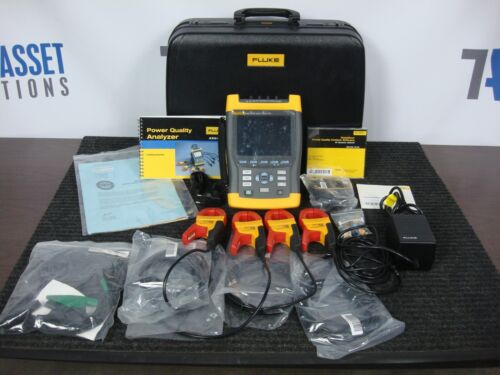 NEW FLUKE 434 POWER QUALITY ANALYZER KIT WITH 4 I400S CLAMPS CASE KIT