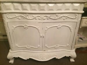 Gorgeous white ornate cabinet