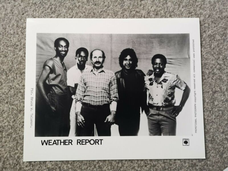 WEATHER REPORT (JAZZ FUSION BAND) OFFICIAL CBS Publicity Photo Circa 1980s
