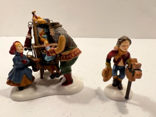 Dept 56 New England Village -- Christmas Bazaar.. Toy Vendor & Cart 56597 (1997)