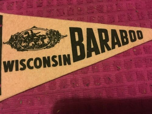 Circus Baraboo Wisconsin Vintage SOUVENIR Pennant Banner Flag - FAST SHIPPER