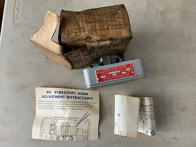 One Vintage Federal Signal Vibratone Horn Model 350 Grey 208v 60hz .08amp Nos