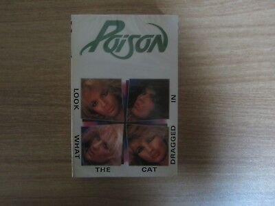 Poison - Look what The Cat Dragged In Korea Edition Sealed Cassette Tape