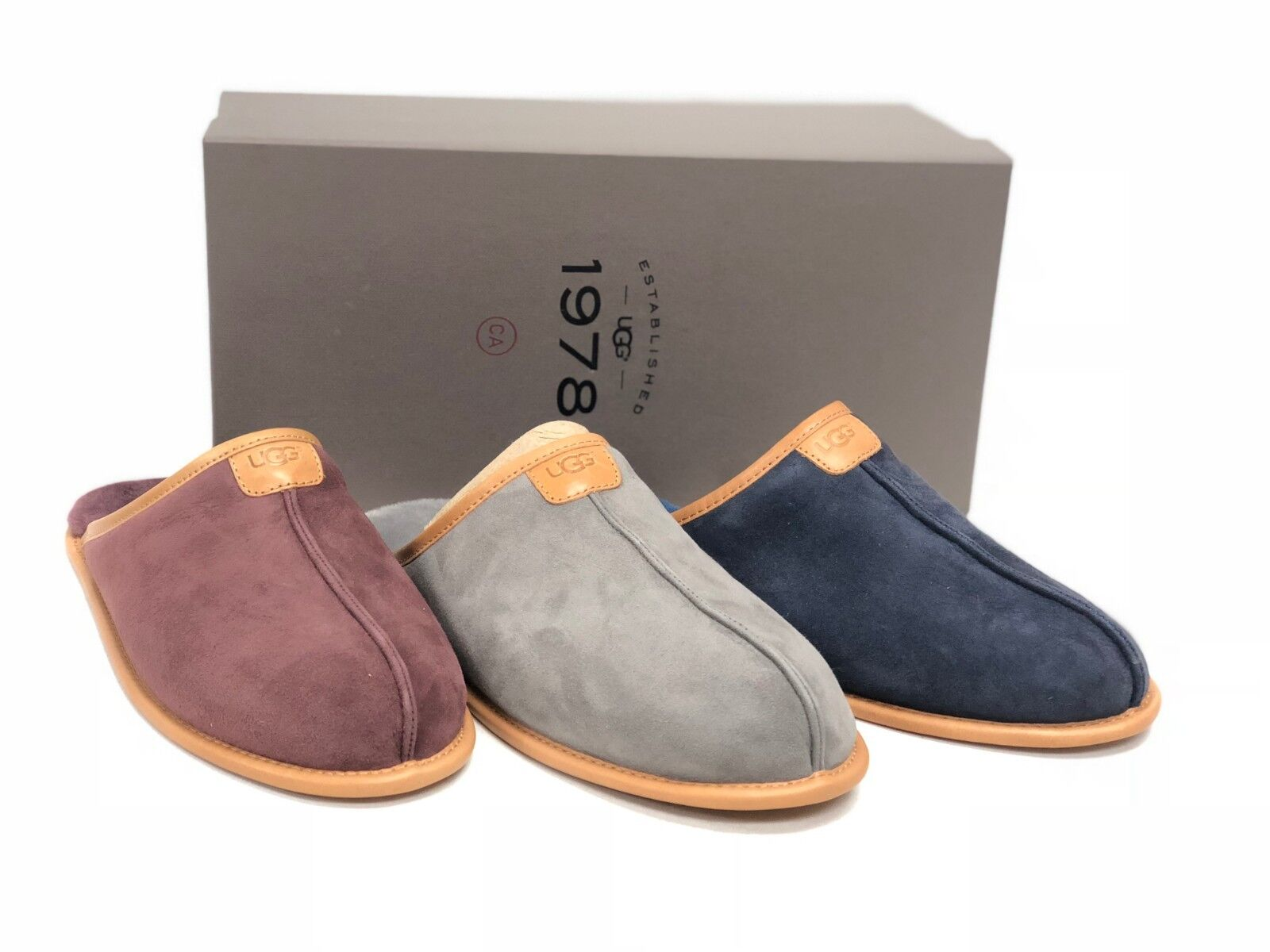 UGG Australia THAYNE 1978 COLLECTION Suede SHEEPSKIN SLIPPERS 1016776 Shoes 1