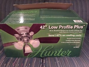 """Open Box New Never Used Hunter 42"""" Ceiling Fan with Light"""