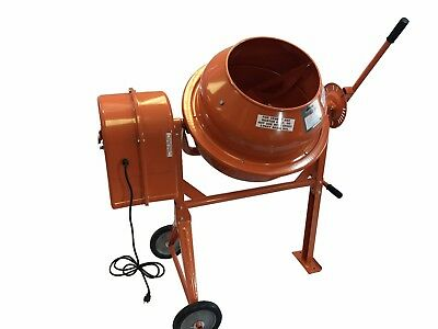 3 12 Cubic Ft Portable Solid Steel Stucco Mortar Cement Mixer New Free