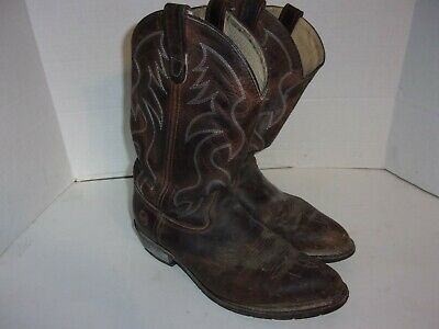 Double H Men's 10.5 2E EE WIDE Brown Leather HH Western Work 3282 Boots
