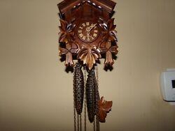 Vintage Wooden Wall Cuckoo Clock Original Made in Germany