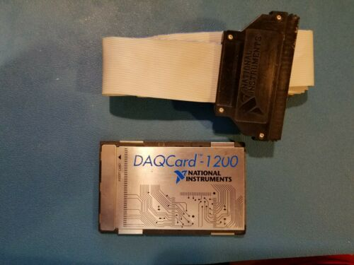 National Instruments PCMCIA DAQCard-1200 Card with Cable