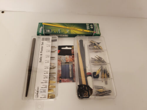 Used Art Supplies Italics Fountain Pen Nibs And More AS009