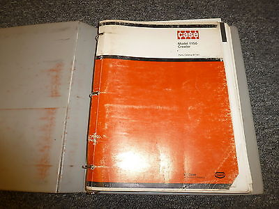 Case 1150 Crawler Dozer Loader Tractor Parts Catalog Manual Book B1161