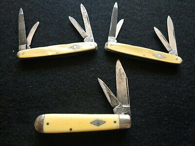 Lot of 3 Vintage RARE Shapleigh Hardware knives 2 Congress and a swell end AS-IS