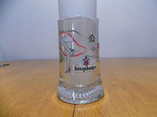 VINTAGE GERMAN KONIGSBACHER GLASS BEER MUG / GERMANY