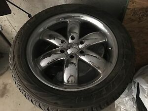 "20"" BOSS Motorsport Rims with tires"