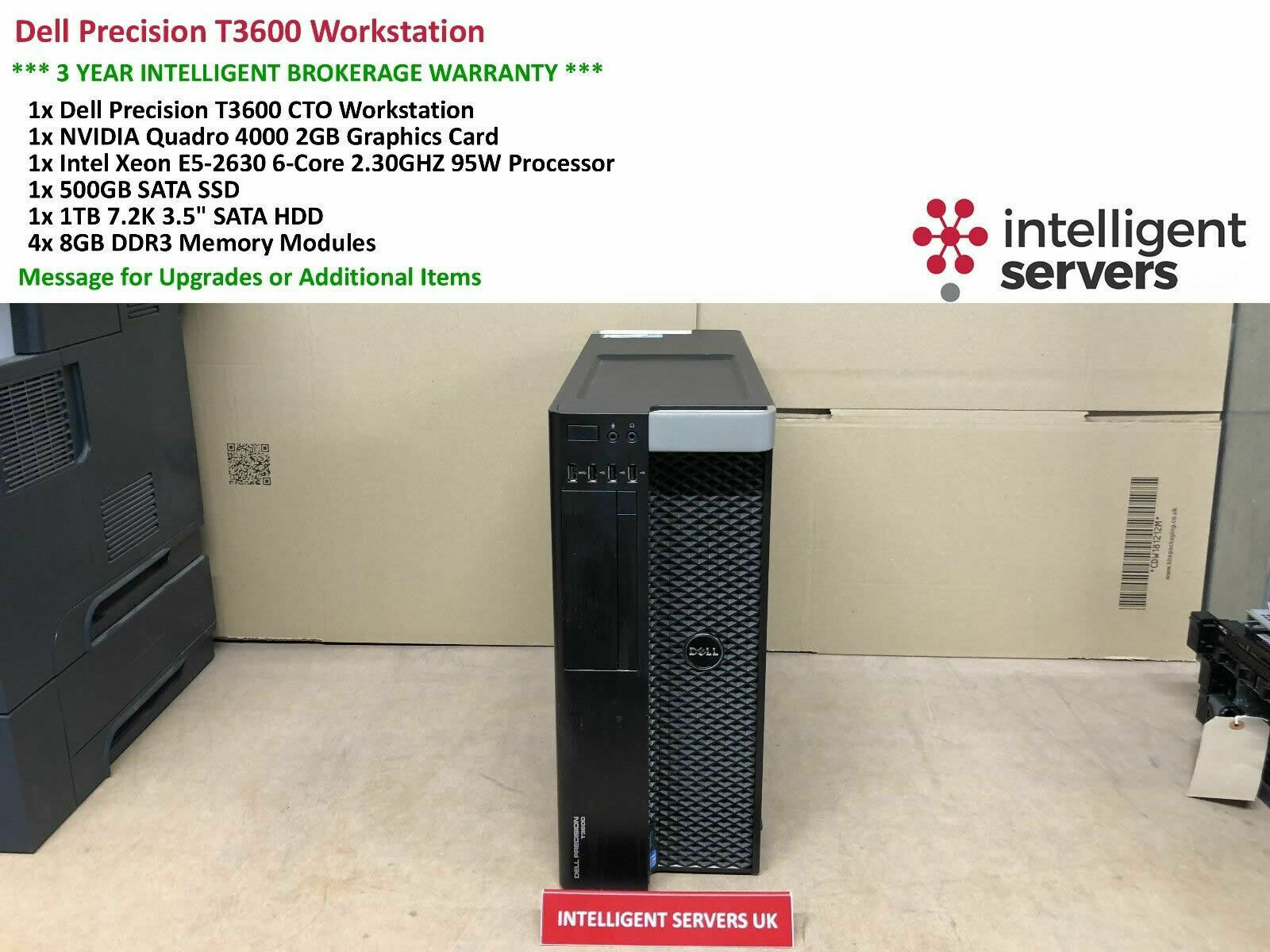 Details about Dell T3600 Workstation, E5-2630 2 3GHz, 32GB, 500GB SSD, 1TB  HDD, Quadro 4000