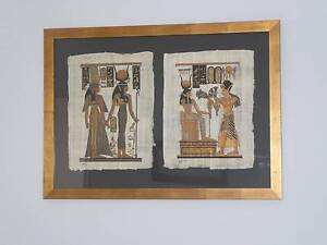 Egyptian scene on papyrus Naremburn Willoughby Area Preview