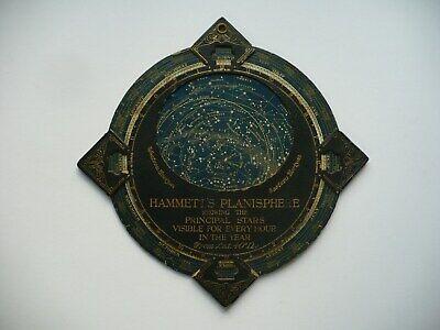 SCARCE CIRCA 1900 HAMMETT'S PLANISPHERE SHOWING PRINCIPLE STARS, CAMBRIDGE, MASS