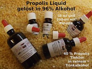 Propolis Tinktur 40%- 50%  100 ml  mit Pipette in reinem Weingeist gelöst Top!