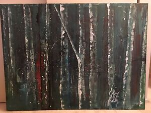 Abstract acrylic original painting on canvas