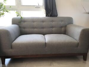 Couch sofa fauteuil canapé Gris gray grey loveseat