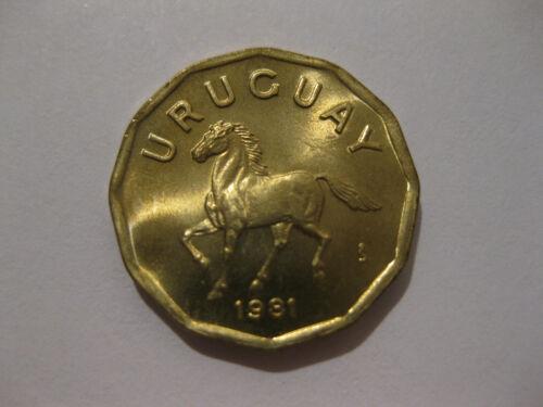 Uruguay 1981 10 centesimos HORSE coin  nice Uncirculated coin animal