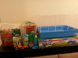 rabbit or small animal cage, food & accessories for sale!