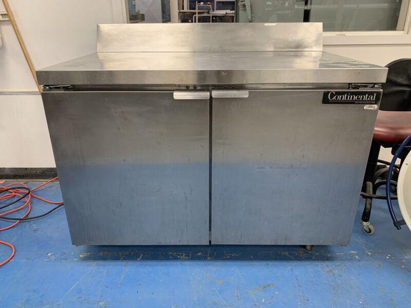 Continental Refrigeration Model SW48-BS Worktop Refrigerator