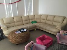 6 seater, cream leather couch/lounge/sofa Oxenford Gold Coast North Preview