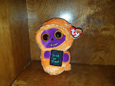Authentic And New W  Tags Ty Beanie Boo Skelton 2017 Halloween 6 Inch