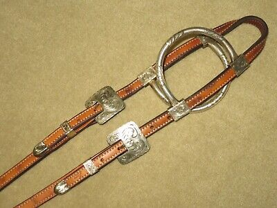 Equine Horse Show Saddle Tack Rodeo Bridle Western Leather Headstall 7817HB