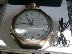 Vintage Pocket Watch Wall  Electric Clock - United Clock Corp. Model No. 360