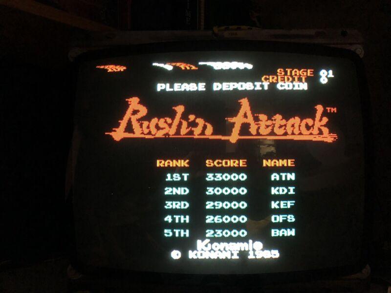 Konami Rush n Attack arcade pcb