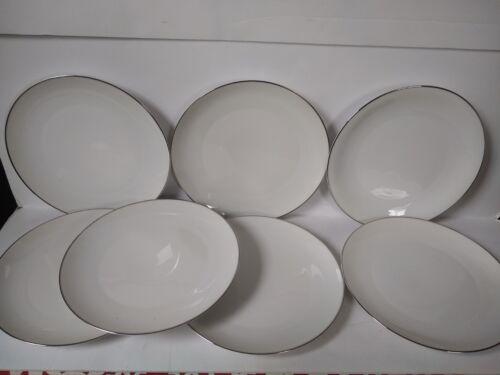 H&C Heinrich Bavaria Germany White Platinum Dinner Plates Set of 7